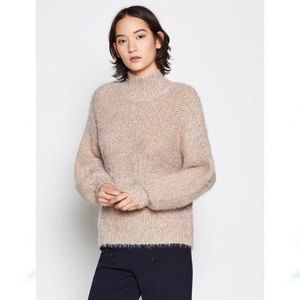 Joie Markita Eyelash Knit Funnel Neck Sweater L